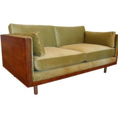 Rosewood Case Two Seat Sofa by Milo Baughman