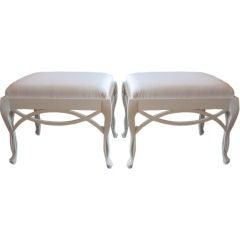 Rare Pair of Frances Elkins Loop Benches