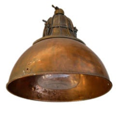 French 1930's Copper Industrial Light
