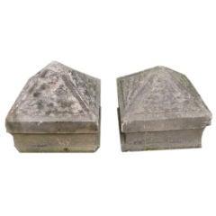 Pair of English 19thC Gatepier Capitals