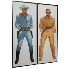 1950s Lifesize Lone Ranger and Tonto TV Posters