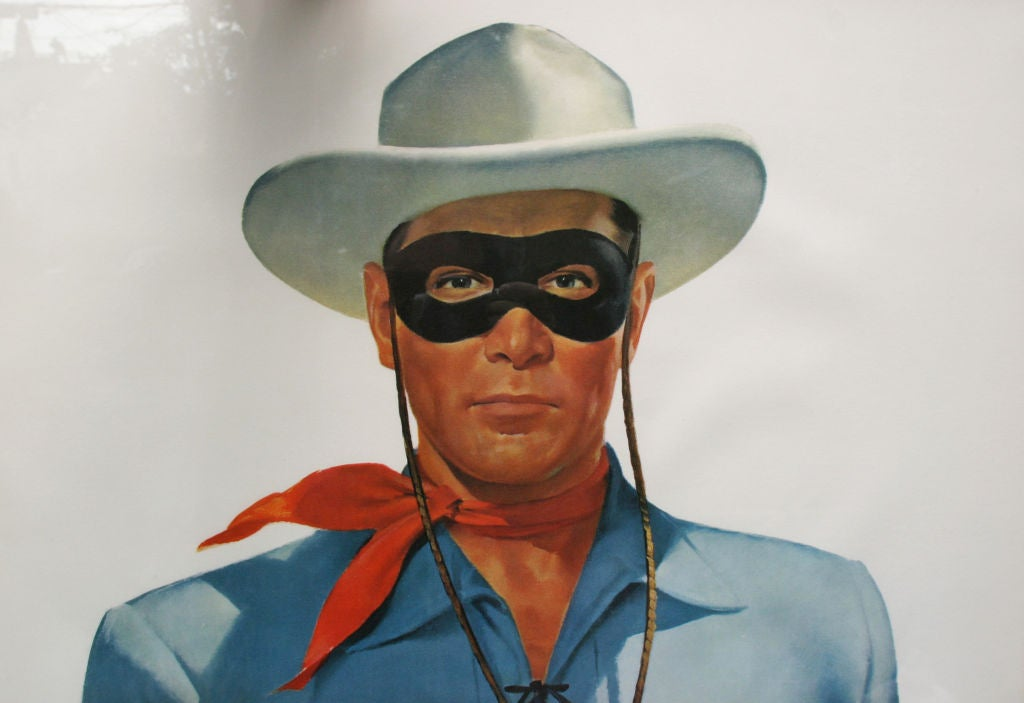 1950s Lifesize Lone Ranger and Tonto TV Posters 4