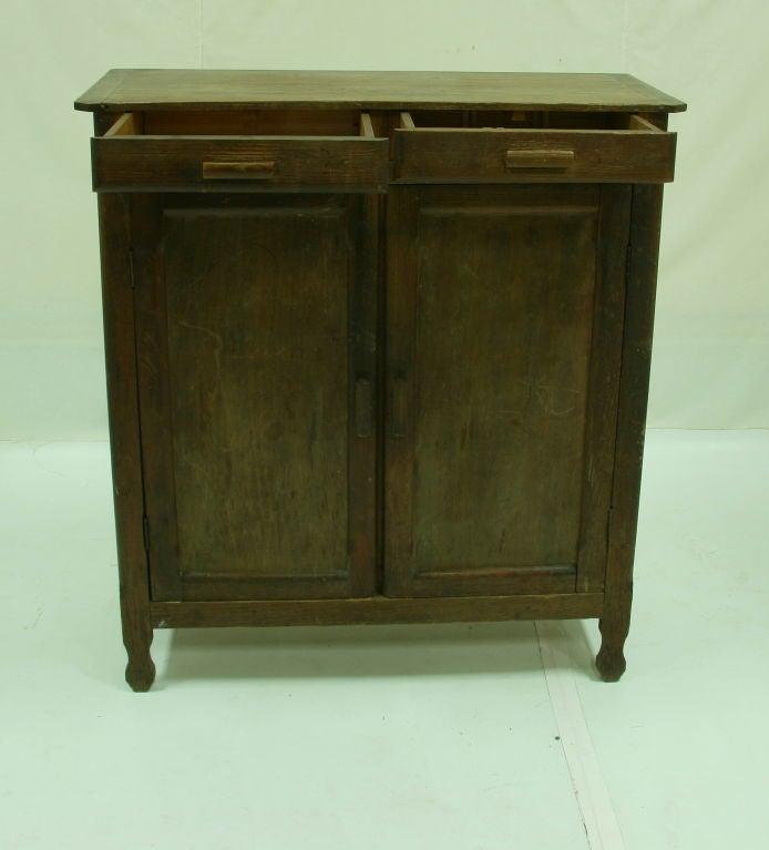 Pine Kitchen Cabinet: 1920'S FRENCH PINE KITCHEN CABINET At 1stdibs
