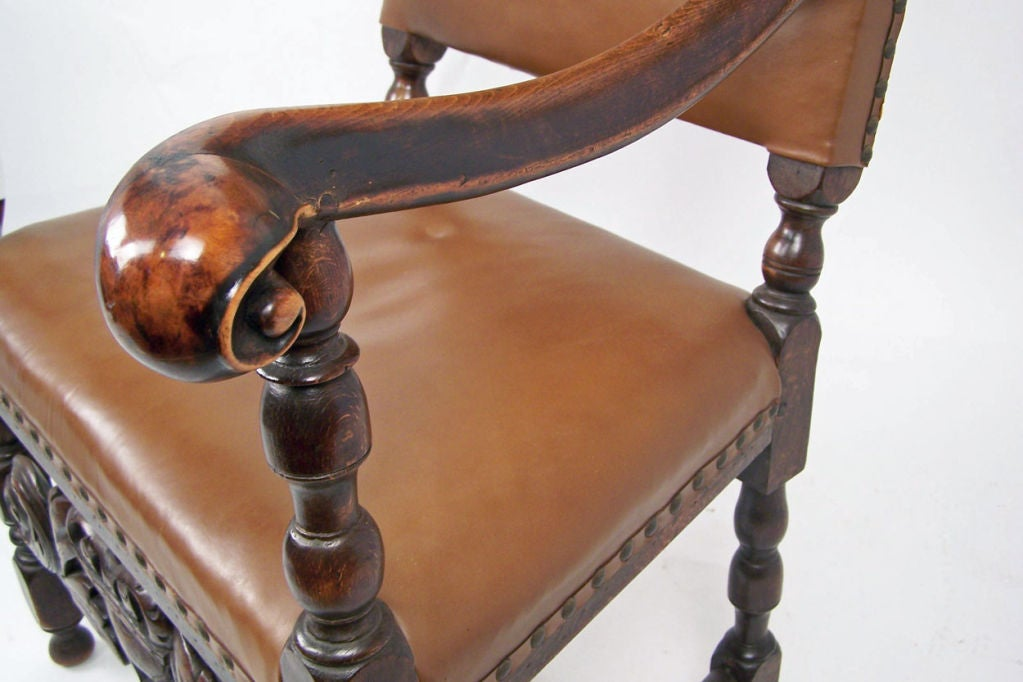 English Wlanut Arm Chair In Excellent Condition For Sale In San Francisco, CA