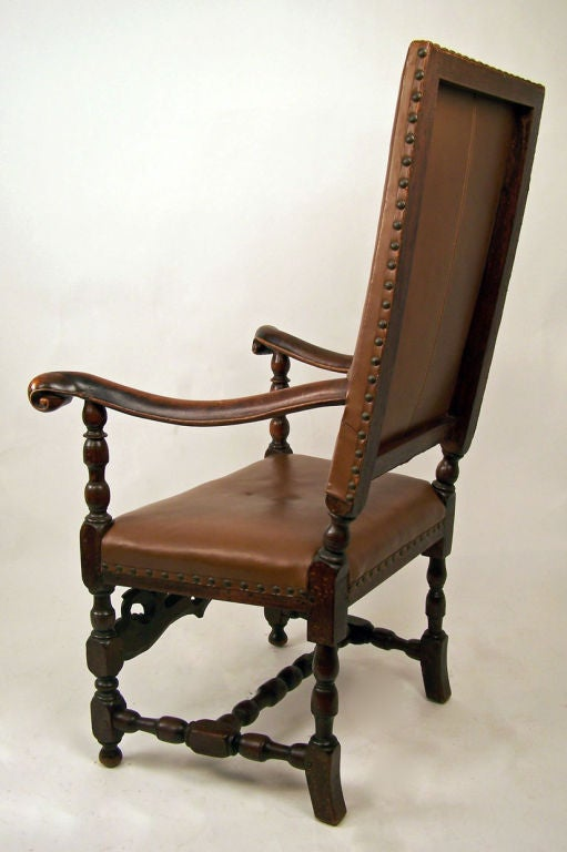 Late 18th Century English Wlanut Arm Chair For Sale