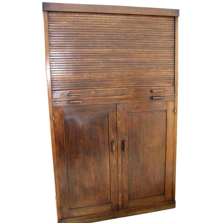 Popular Large Oak Map Cabinet  Flat File At 1stdibs