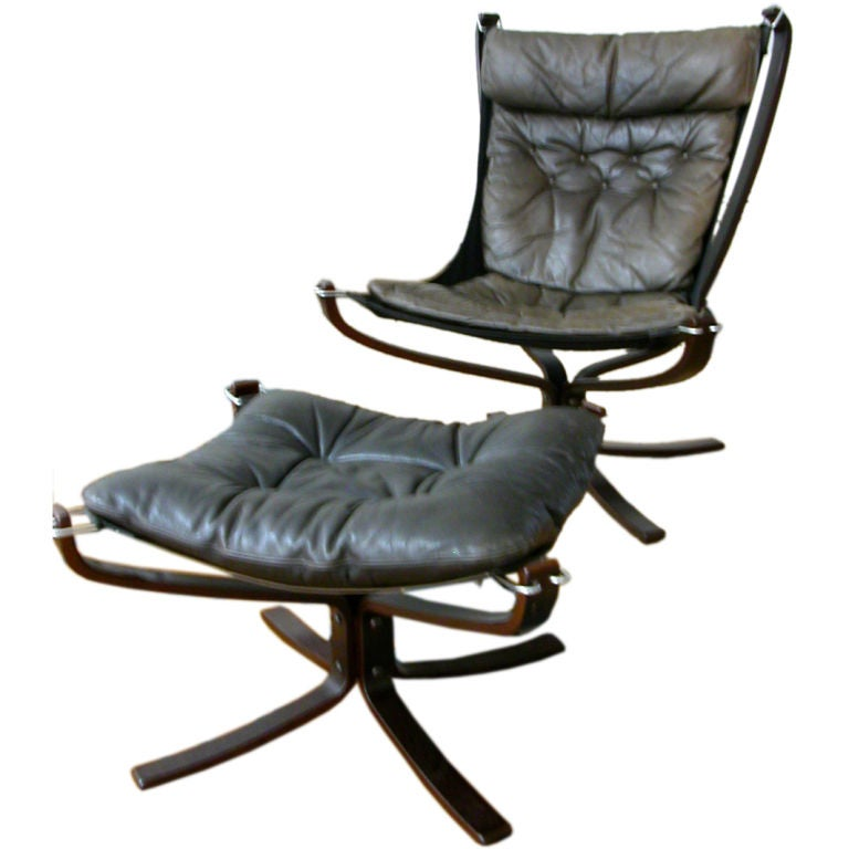 Falcon Chair & Ottoman By Sigurd Resell