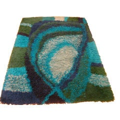 Danish Abstract Wool Shag Carpet By Ege Rya De Luxe