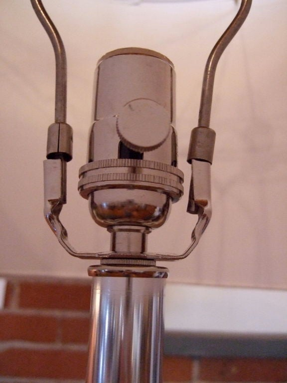 Pair of Mid-20th Century Chrome Floor Lamps For Sale 2