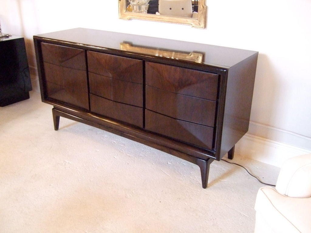 Danish 9 Drawer Chest or Dresser 3