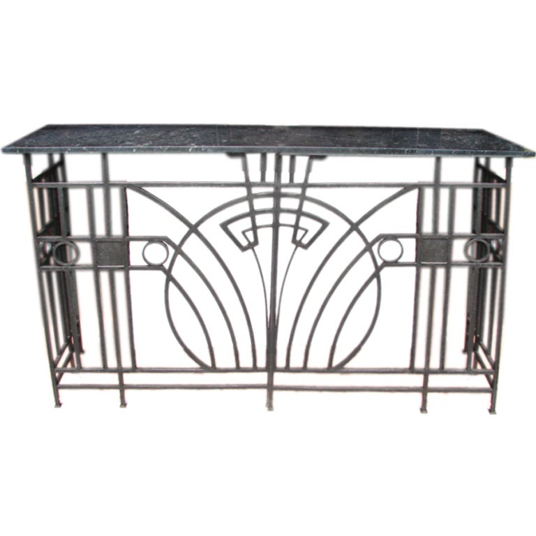 Art deco fer forge sideboard at 1stdibs - Console art deco fer forge ...