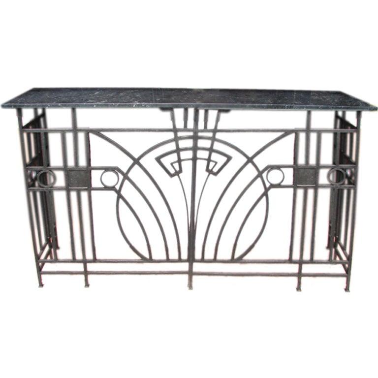 art deco fer forge sideboard at 1stdibs. Black Bedroom Furniture Sets. Home Design Ideas