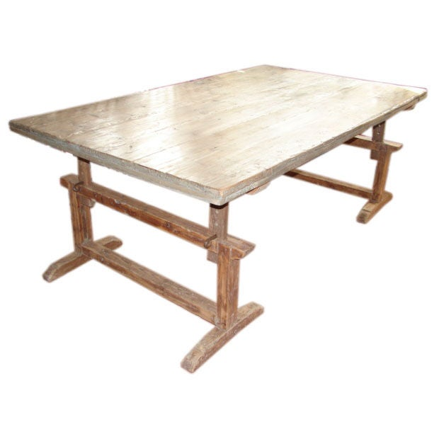 Large Dining Table With Adjustable Base At 1stdibs