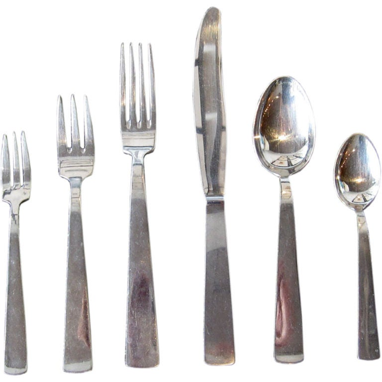 Gio Ponti Milano Stainless Flatware At 1stdibs