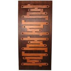 1960s Brazilian Jacaranda Decorative Panel or Door