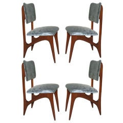 Set of Four 1950's Caviuna Chairs