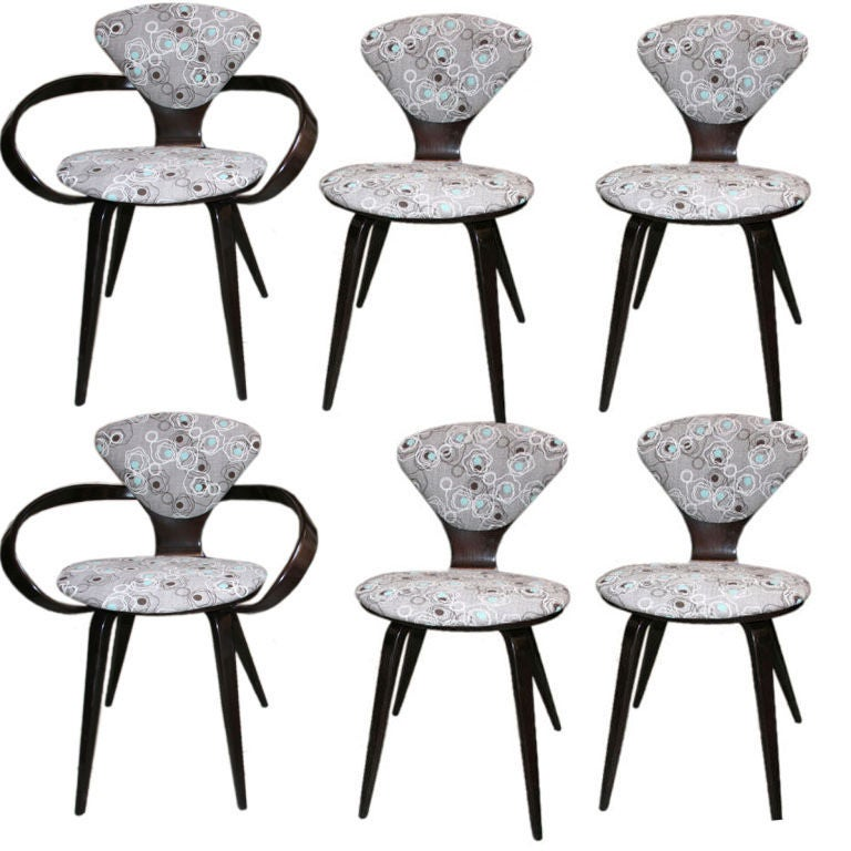 Set of Six Cherner for Plycraft Chairs 1