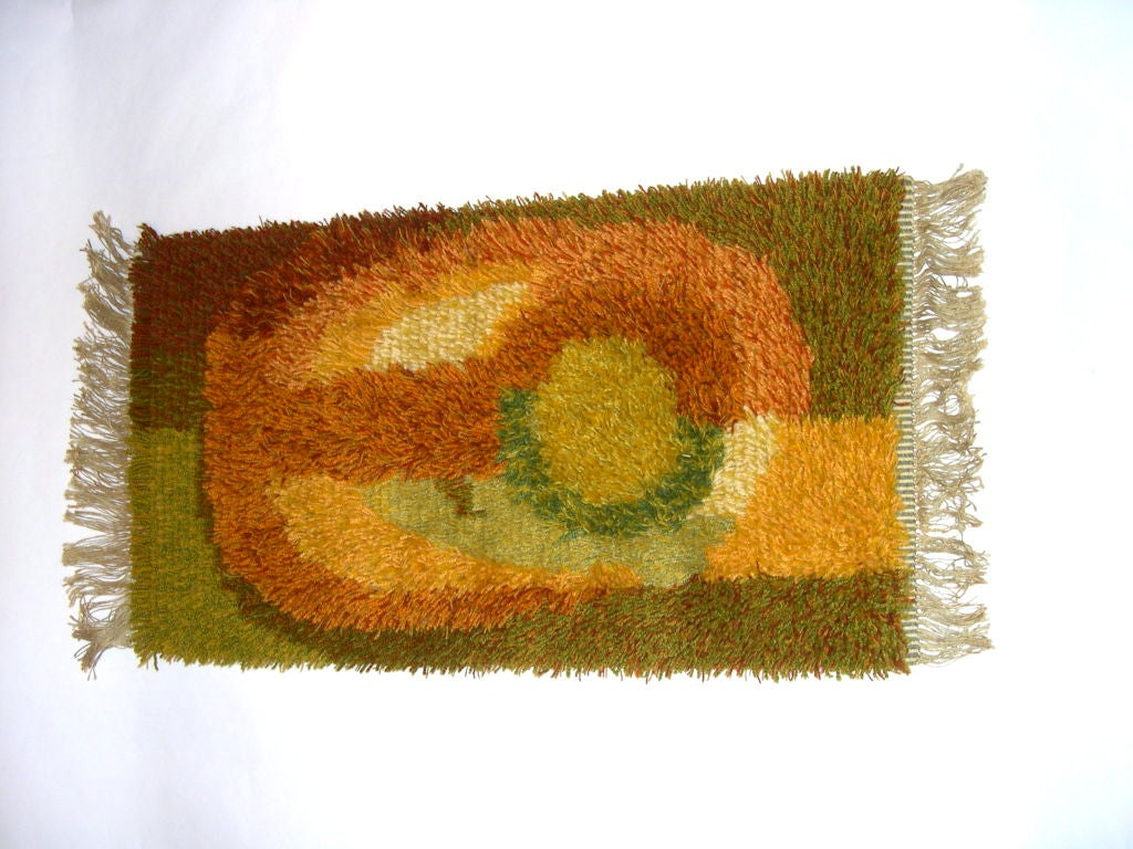 Great Abstract Sculpted Handmade Wall Hanging Or Rug At
