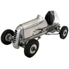 1930's Original Streamline Aluminum Tethered Racing Car