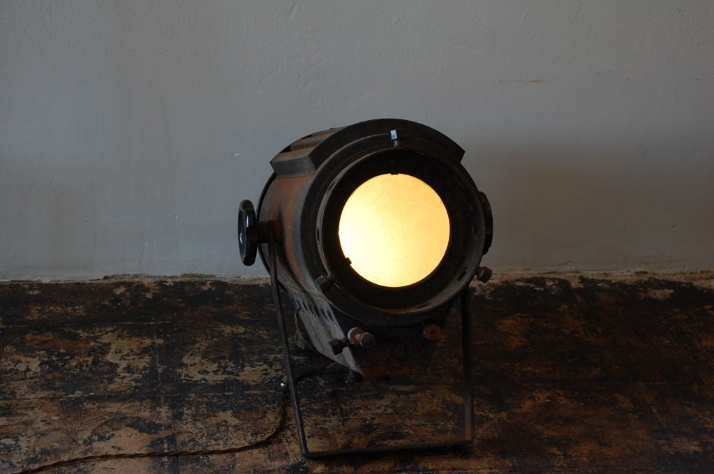 Large Industrial Floor Projector Lamp At 1stdibs