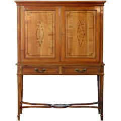 Chic French, 1940s Cherrywood Dry Bar by Maison Jansen