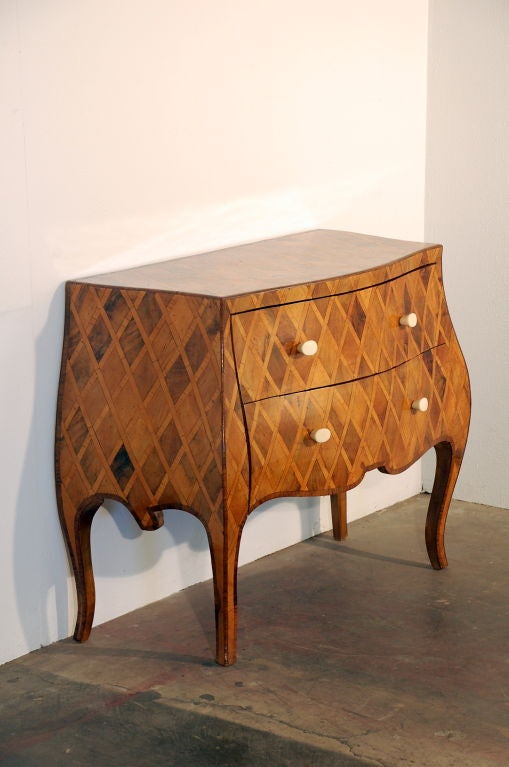 elegant italian 1950s neoclassical parquetry commode at 1stdibs. Black Bedroom Furniture Sets. Home Design Ideas