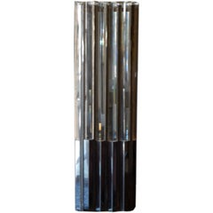 Unusual Lucite and Chrome 1970s Column Lamp