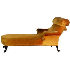 Exceptional Napoleon III upholstered day bed / chaise longue