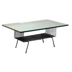 French 50's mirrored coffee table