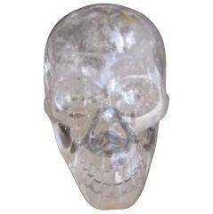 Hand Carved Rock Crystal Skull