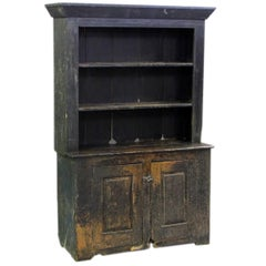 American Primitive Cabinet with Original Paint.  Great color and old patination.