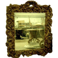 MONUMENTAL 18TH CENTURY CARVED WOOD MIRROR