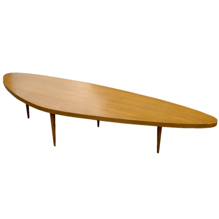 Harvey Probber Biomorphic Surfboard Cocktail Coffee Table