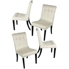 Edward Wormley for Dunbar set of four Side Chairs, circa 1940