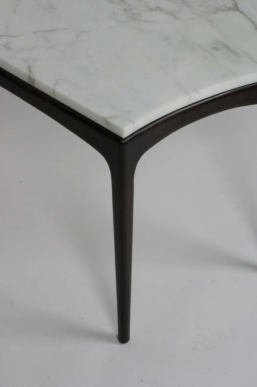 1950 S Elegant Marble Top Wedge Shaped Table At 1stdibs