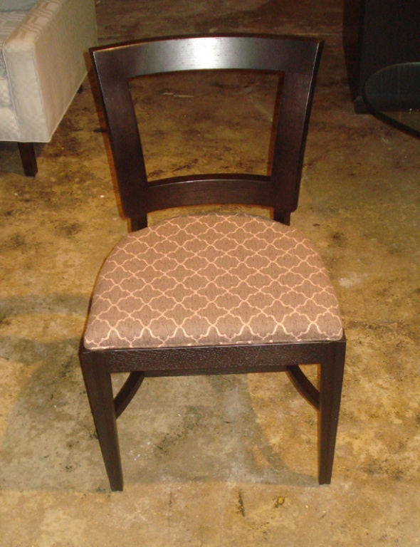 Set of 6 1940 39 s dining side chairs with cut out design in for 1940s furniture design