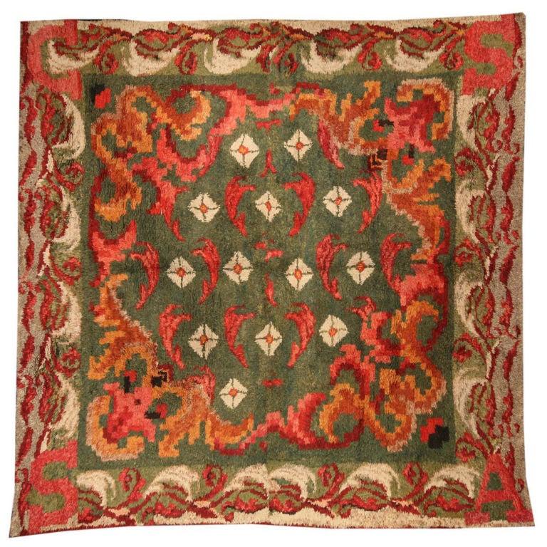 Antique French Rag Rug Fragment For Sale At 1stdibs