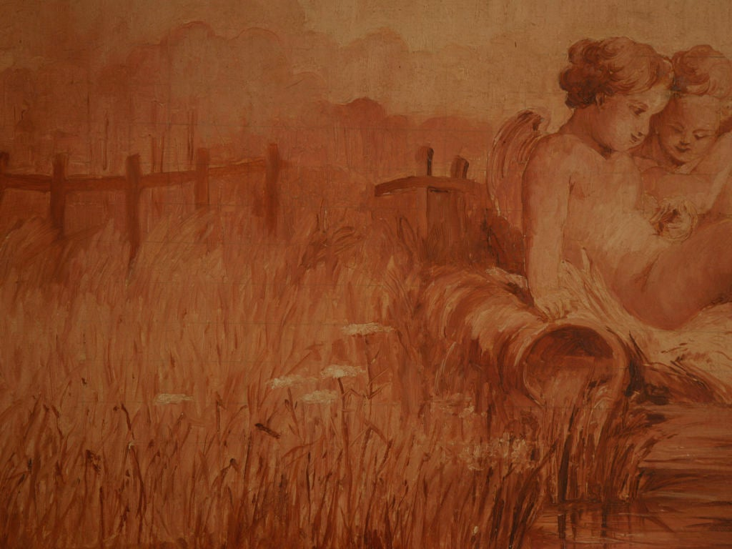 C1890 Original French Sepia Painting On Board At 1Stdibs-7585