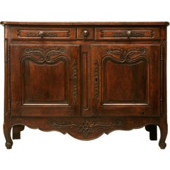 Original 18th C. Antique French Louis XV Fruitwood Buffet