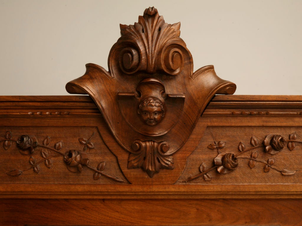 Hand Carved Bed: C.1880 French Hand-Carved Walnut Bed With Cherubs At 1stdibs