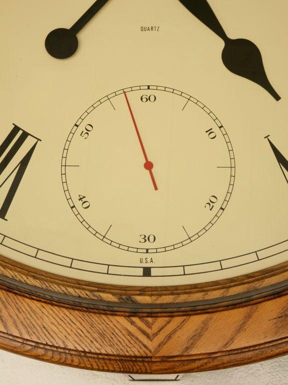 Vintage American Oak Clock Coffee Table By Howard Miller At 1stdibs