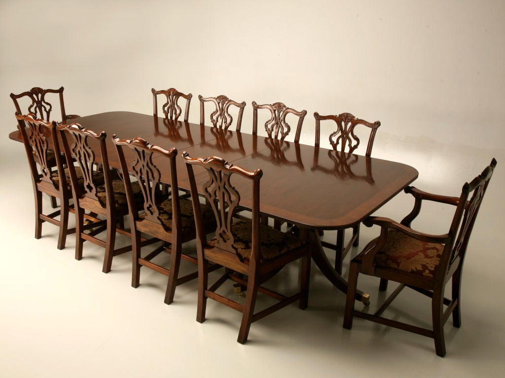 this english solid mahogany double pedestal dining table is no longer
