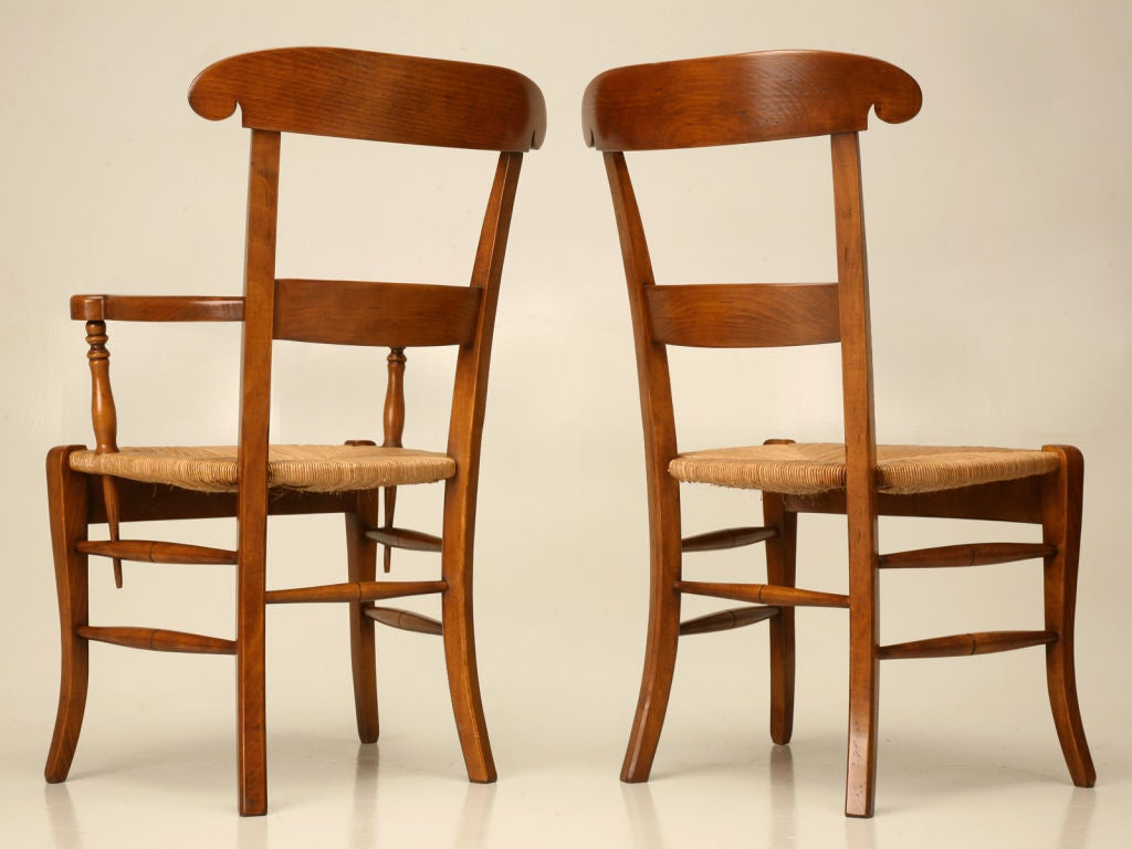 this set of eight handmade french dining chairs is no longer available