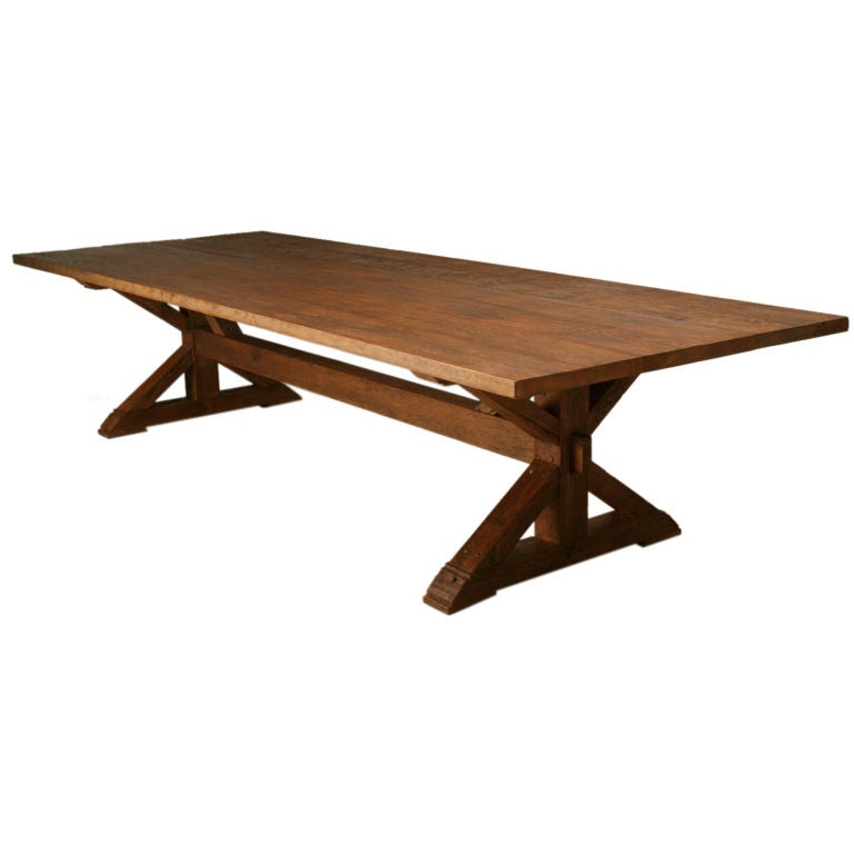 French Farm Table in 18th Century Style
