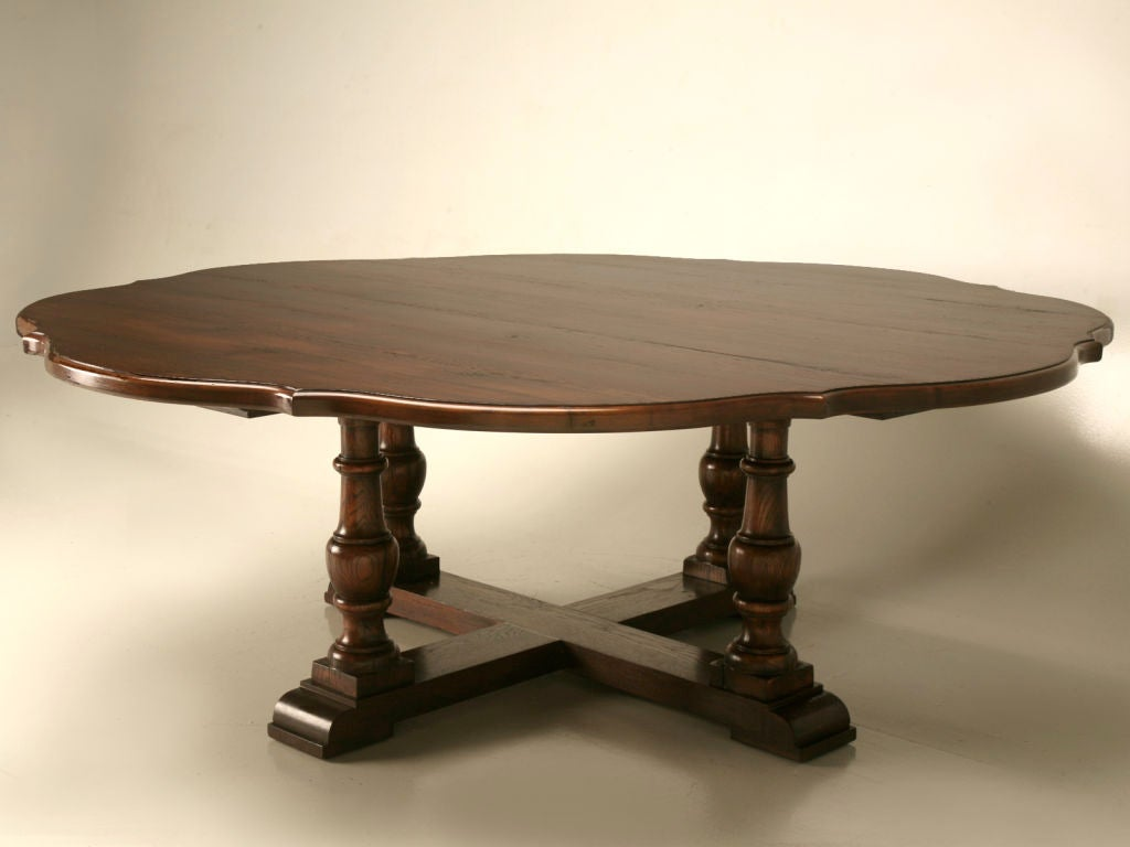 Scalloped Clover Dining Table At 1stdibs