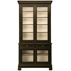 Louis Philippe Style Bibliotheque 'Bookcase' or Display Cabinet