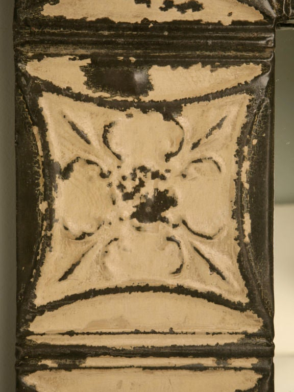 Antique Tin Ceiling Tile Framed Mirror At 1stdibs