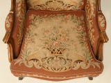 c.1900 French Needlepoint Louis XV Wing-Back Chair image 4