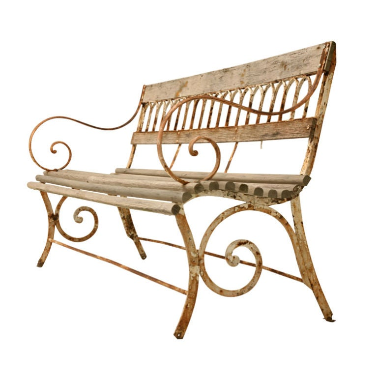 English Garden Bench With Gothic Design At 1stdibs