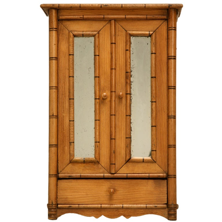 C 1890 Miniature Antique English Pine Armoire At 1stdibs